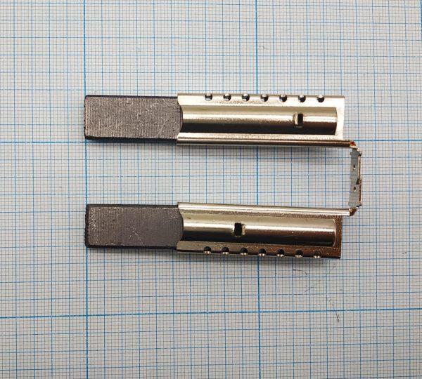 Щетки в металлическом корпусе 12,5мм, для стиральных машин Indesit, Ariston ISL016SN
